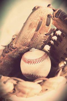 Baseball engagement pic Photo by Melinda Gibbs