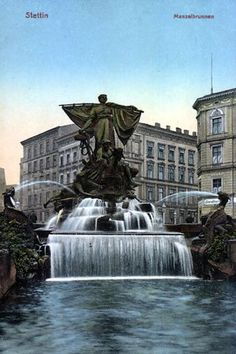 Postcards of the Past - Old Postcards of Szczecin (Stettin), Poland Architecture Old, Old Postcards, Ancestry, Monuments, Touring, Statue Of Liberty, The Past, 3d, Landscape