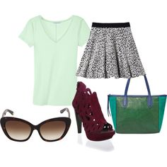 Spring Outfit with Animal Print Skirt