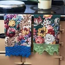 sarah moore vintage - Google Search Could dye cotton lace and add to my tea-towels