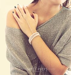 Silver Slave Bracelet Hand Harness Ring to chain by sweetpeepshere, $12.00