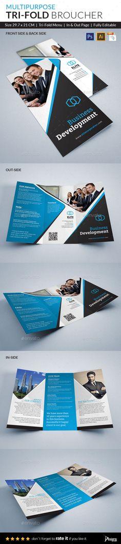 Trifold Brochure Template. Download: http://graphicriver.net/item/trifold-brochure/10821264?ref=ksioks
