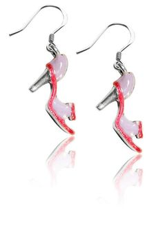 High Heel Sandal Charm Earrings in Silver