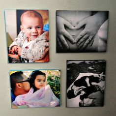 Use Mod Podge to decoupage your favorite family photos to canvas. These DIY canvas pictures are a great budget way to decorate!
