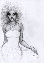 Image result for sketches of black women