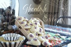 Ghoulish Greek Yogurt Eyeballs on frenchiewraps.com
