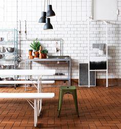 Me parece que este tipo de pared podría quedar genial en la cocina de la cabaña m&m's