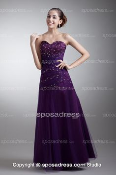 Custom Made Sweetheart Floor Length Women Evening Dress With Sequins
