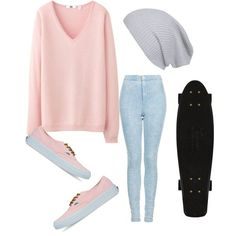#summer2013 #skater #simple #Pink #vans