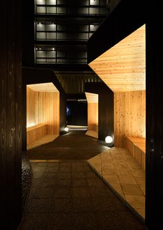 architecture practice GENETO has recently completed the design of a japanese BBQ style restaurant in kyoto, called yakiniku yazawa'.