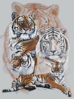 Big Cat Mixed Media - Zar de Barbara Keith