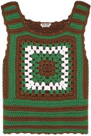 Miu Miu Crocheted cashmere top