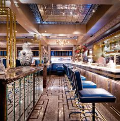 Bob Bob Ricard serves a luxury English and Russian menu to its eclectic clientele in London's most glamorous all-booth dining room.
