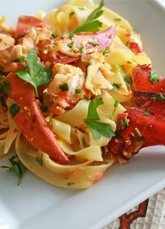 Low FODMAP & Gluten free Recipe - Lobster pasta http://www.ibssano.com/low_fodmap_recipe_lobster_pasta.html