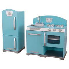 Kidkraft Vintage Kitchen In Blue Toy Sets Toys Baby Pinterest Set And