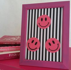 Smile Dang itPink Smiley Face Wall Decor by ThePinkElephantShopp