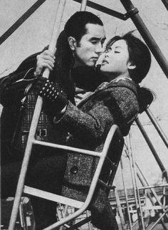 Mishima Yukio 三島 由紀夫 (1925-1970) & Wakao Ayako 若尾文子 in Karakkaze Yarou (Afraid to die) - Directed by Masumura Yasuzou 増村 保造 (1924-1986) - 1960