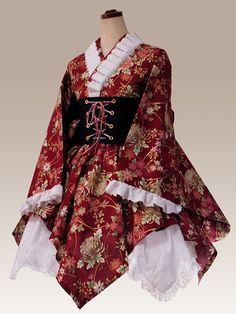 Harajuku Fashion, Kawaii Fashion, Lolita Fashion, Kawaii Dress, Kawaii Clothes, Japanese Outfits, Japanese Fashion, Kimono Dress, Dress Up