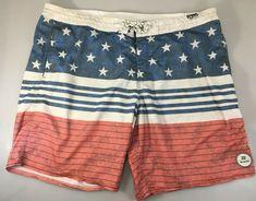 NWT Gymboree USA Patriotic American Flag Stars /& Stripes Swim Trunks Shorts XS S