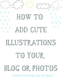 DIY: cute illustrations for your post, photos or whatever! // petitapetitandfamily.com Business Tips, Cake Business, Creative Business, Online Business, Dingbat Fonts, Fun Fonts, Blogging For Beginners, Blogging Ideas, Wordpress