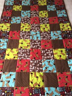 Paper Pieced Dachshund Quilt Made By Pinterest Pinner