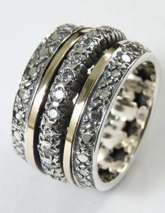 Poze Inel argint, aur 14k si cubic zircon R2445