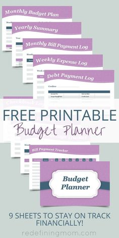 FREE Printable Budget Planner – Finance tips, saving money, budgeting planner Planner Free, Printable Planner, Free Printables, Happy Planner, Weekly Budget Printable, Weekly Budget Planner, Printable Budget Sheets, Bill Planner, Planner Diy