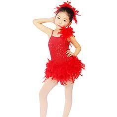 Children's Performance Sequined Latin Dance Tutu Dress/Costumes Kids Dance Costumes – USD $ 69.99