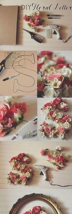 DIY: Floral Letters