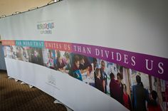 A banner displayed at the Interfaith Explorers launch