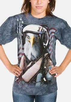 The Mountain Unisex Child Flag Bearing Eagle Bird T Shirt