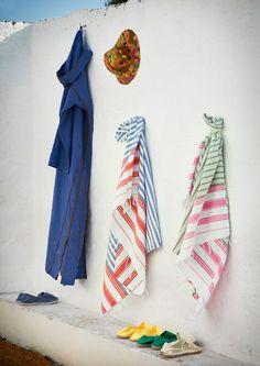 Pretty hammam towels from Toast UK
