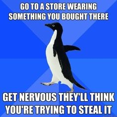 Pretty much every time I go into Target or The Loft...