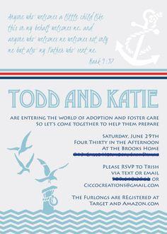 Adoption baby shower invite stephanie miera potential wording adoption baby shower invite nautical theme filmwisefo Gallery