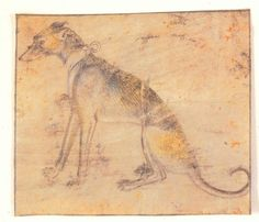 GIOVANNINO DE GRASSI His brilliant wash drawings of cheetahs, stags, rabbits, and people fill the famous sketchbooks of Giovannino de Grassi. De Grassi was a Visconti court artist, painter, and sculptor, which allowed him an education, and sources for work. c.1390.