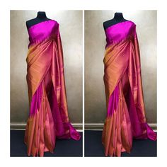 You searched for kanchipuram saree - Online Sale India Indian Silk Sarees, Soft Silk Sarees, Indian Attire, Indian Ethnic Wear, Indian Dresses, Indian Outfits, Formal Saree, Drape Sarees, Simple Sarees