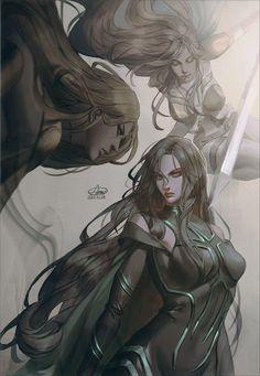 #Thor:Ragnarok #Hela #Dessin Kim Armi #Marvel #Comic #Manga