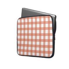 Orange Gingham Laptop Sleeve
