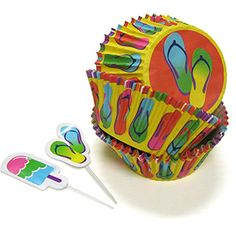 images of cupcakes with flip flops | Summer Flip Flop Cupcake Combo Pack by Wilton contains 24 baking cups ...