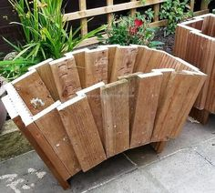 Here is another idea of creating the planter for the garden in the home, but this one is big. You can see how reshaping the wood pallets can turn them into awesome items for decoration. There is no need to paint them as they look amazing in their actual color.