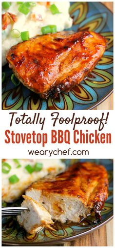 Enjoy perfect BBQ chicken indoors with this quick and easy Stovetop Barbecue Chicken Recipe! This is an all-time reader favorite recipe, and I hope you love it too! dinner stovetop Stovetop Barbecue Chicken Recipe: No Grill Required! Stove Top Bbq Chicken, Easy Bbq Chicken, Easy Chicken Recipes, Chicken Stovetop, Perfect Chicken, Chicken Meals, Recipe Chicken, Quick Recipes, Stove Top Recipes