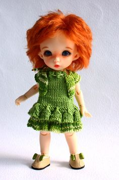 "Outfit ""Emerald green of summer"", dolls format Tiny (PukiFee, Aquarius, Lati Yellow, Irrealdoll)"