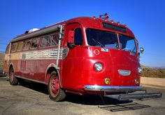 Old Flxible Red Bus
