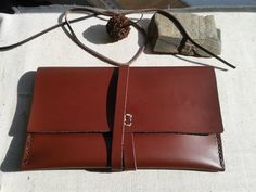 ' Wayfarer ' - handmade and hand-stitched leather bag. Leather Clutch Bags, Clutch Wallet, Leather Purses, Leather Wallet, Stitching Leather, Hand Stitching, Handmade Clutch, Small Leather Goods, Wallets For Women