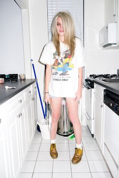 Sky Ferreira at home #6 by Terry Richardson