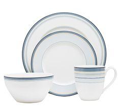 Noritake China: Casual Dining: Java Collection: Java Graphite Swirl