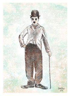 Charlie Chaplin Illustration (Print)