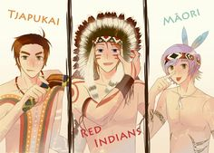 I just love how they made those three look like their natives!! It's adorable!!