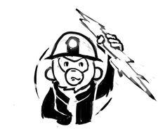 Fun sketch logo for a friend (very small electrical repair company)  DEVIANTART: http://nickprokoart.deviantart.com  #digitalart #doodle #sketch #drawing #draw #photoshop #sketchbook #speedpaint #drawn #illustration #sketching #wacom #doodles #monkey #logo #lineart