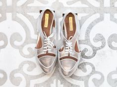Silver CUT OUT Flats Women shoes Mina Shoes Mexico by MinaShoes